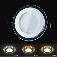 10pcs Lot Dimmable LED Panel Downlight Square Glass Panel Lights Ceiling Recessed Lamps For Home SMD5730