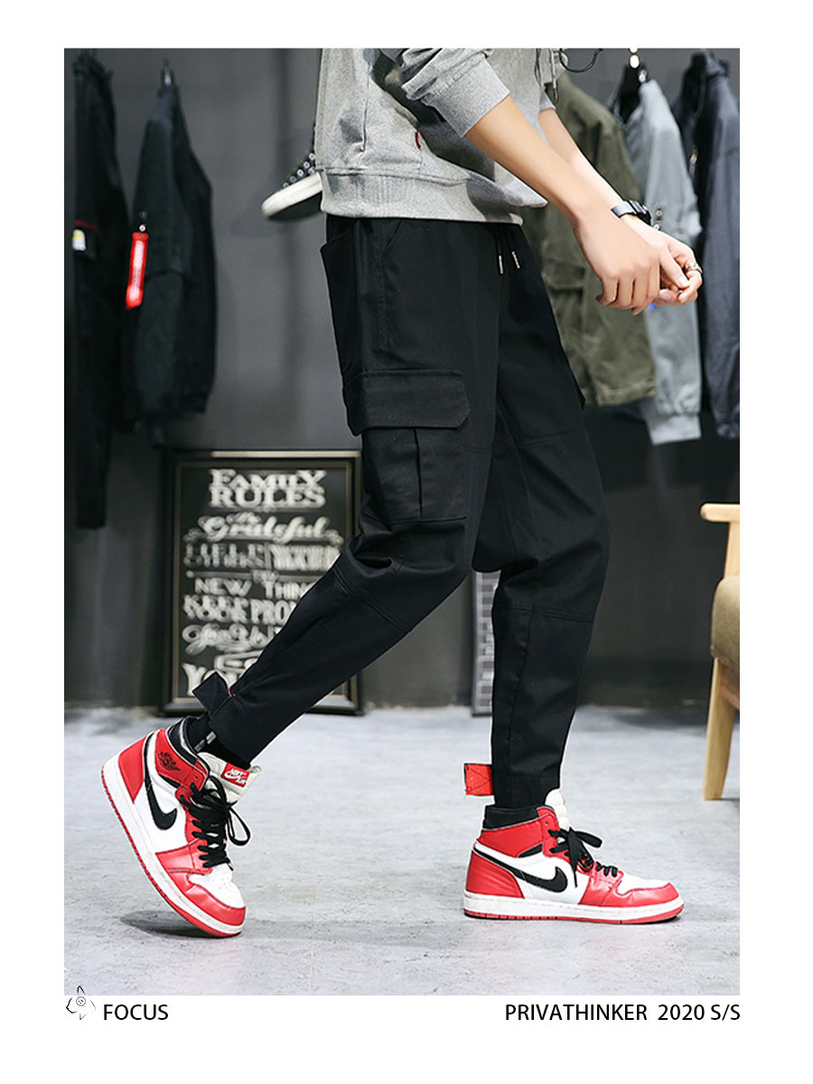 Privathinker Cargo Pants Men 2020 Mens Streetwear Joogers Pants Black Sweatpant Male Hiphop Autumn Pockets Trousers Overalls 55