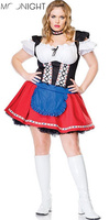 MOONIGHT Cheap New French Maid Women Sexy Costumes Mini Fancy Dress Sexy Beer Girl Oktoberfest Costume Cosplay Size S M L XL