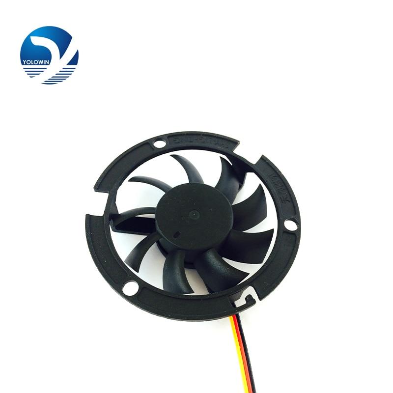LED ventilatori dzesēšanas ventilators 12v 6015 neliels LED lampas dzesēšanas ventilatora stiprinājums Ventilatori dzesētāja dzesēšanas radiators 3 līnijas 3500RPM 60 * 60 * 15 YL-0043