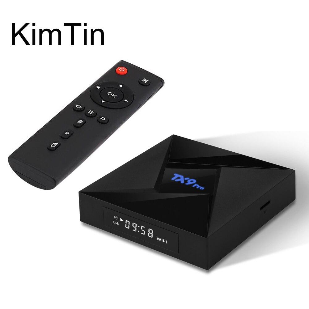 KimTim TX9 Pro Amlogic S912 Octa Core Android 7.1 TV BOX 3GB DDR4 32GB OS 2.4/5G Wifi 1000M LAN 4K H.265 KODI BT 4.1 Set Top Box