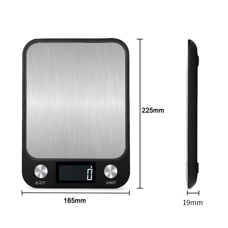 Цифровые кухонные весы, Многофункциональные кухонные весы до 10 кг из нержавеющей стали с ЖК экраном-1