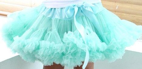 Юбка-американка для девочек Петти юбка-пачка для танцев желтый цвет пышная Мягкая юбка Юбка-пачка для девочек - Цвет: skyblue