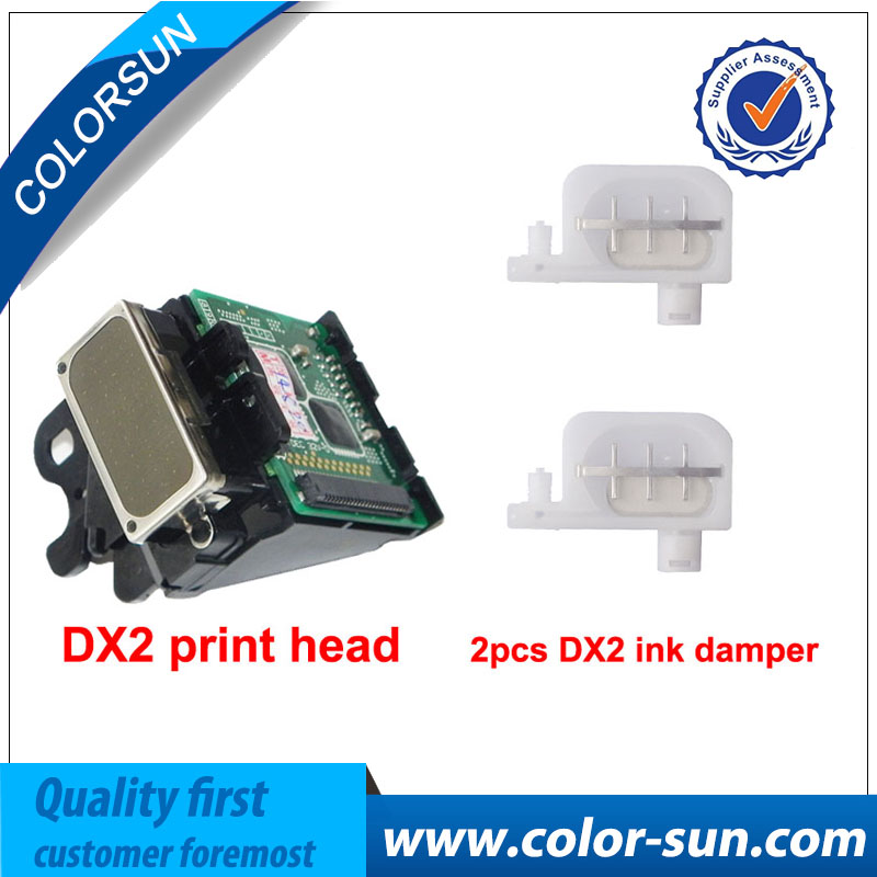 Color DX2 Solvent print head with 2 pcs Ink Damper Free for Epson 1520k pro7000 3000 9500 for roland SJ500 SJ600 9000 Printhead купить автомобиль с пробегом паджеро в москве