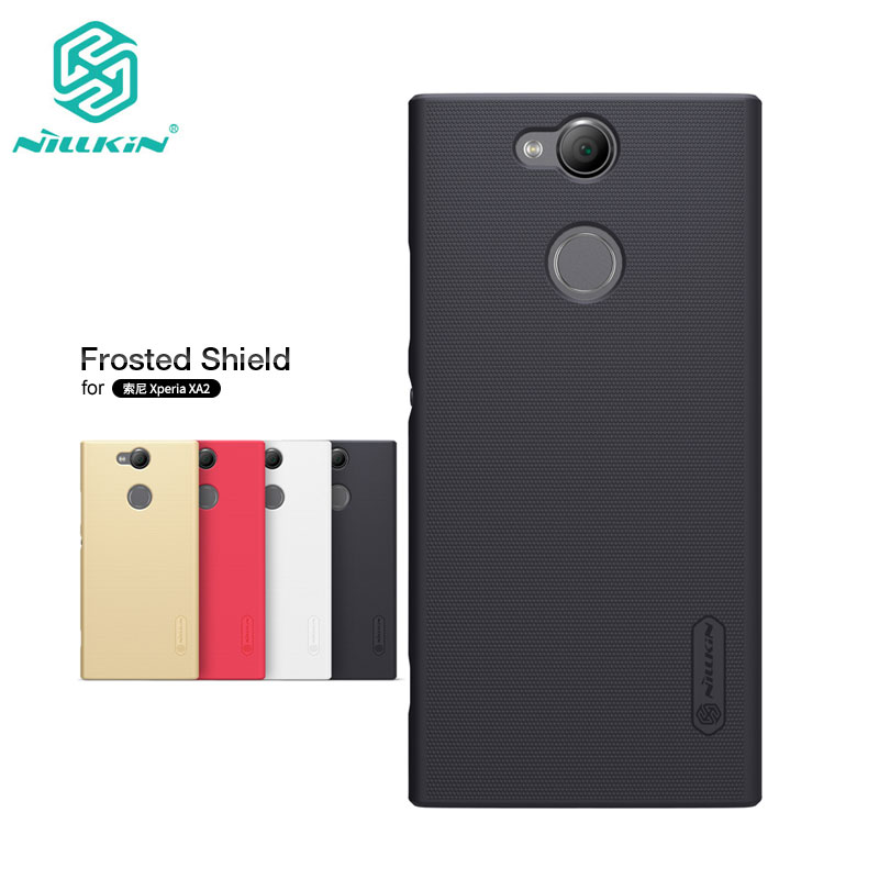 Nillkin Case for Sony Xperia XA2 Frosted Shield Hard Plastic Back Cover sFor Sony XA2 Case with Screen Protector