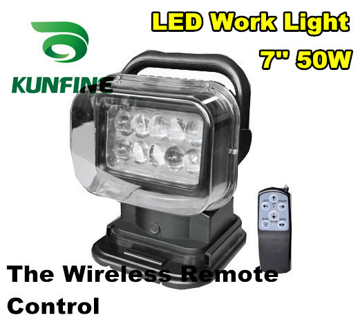 Super bright 10-30V Round 7 50W wireless remote control tractor off-road ATV LED work light working lamp Fog light kit KF-R02 ac 200v 245v 2 way channel on off digital wireless switch wall remote control 50 60hz for light lamp promotion price