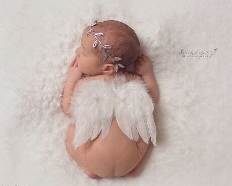 Chic Baby Girls Angel Feather Wings Leaves Headband Set Hair Head Bands Accessories For Newborns Hairband Photography Props