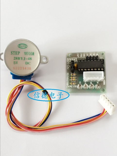 Free shipping DC5V 28BYJ-48 28BYJ48 stepper motor with ULN2003 driver board For Arduino PIC