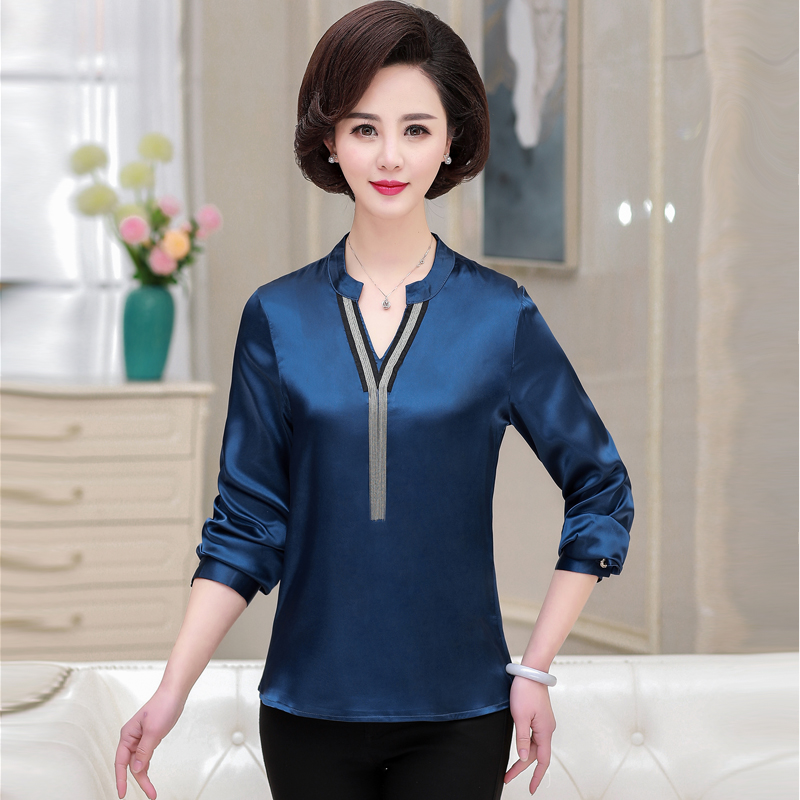 2019 Long Sleeve T-Shirt Women Casual Loose Tops Tee Shirts Femme <font><b>Sexy</b></font> V-Neck Tassels Female T Shirts Office <font><b>Blusas</b></font> <font><b>Mujer</b></font> image
