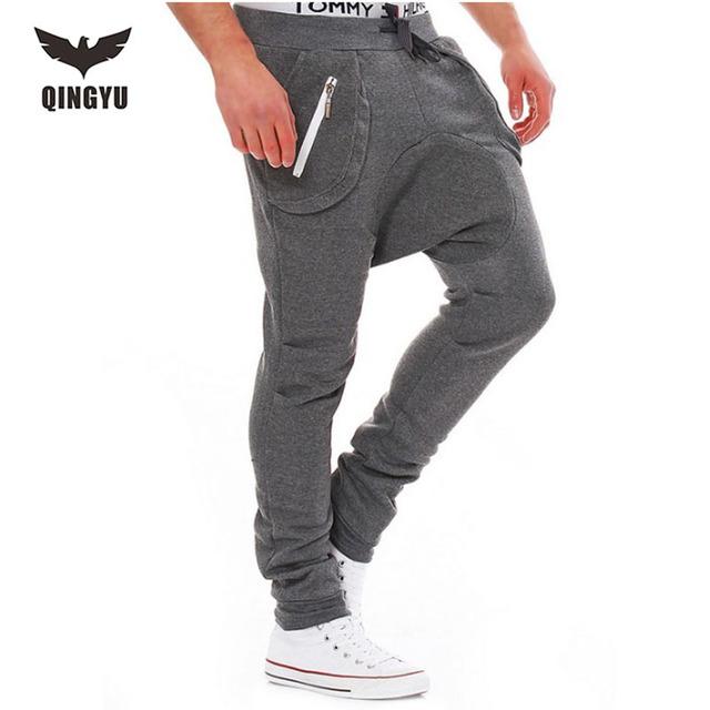 2016 Homens calças Compridas Dos Homens suspiro workout fitness Calça casual sweatpants jogger calças calças justas