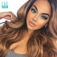 T1B/30 Color Wigs 8 24 Inch Pre Plucked Hairline Brazilian Human Remy Hair Loose Wave Lace Front Human Hair Wigs With Baby Hair