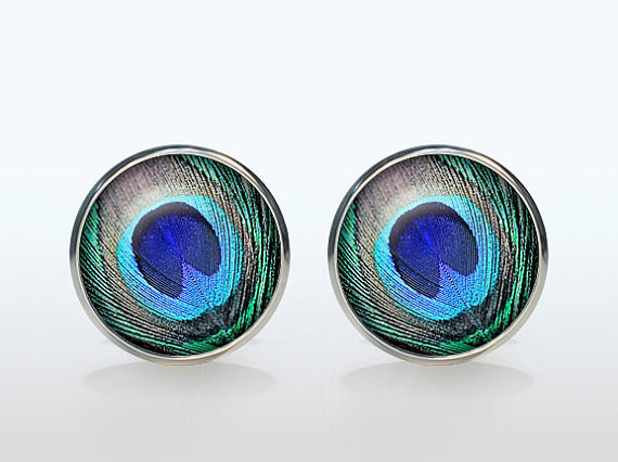 Vintage High Quality Wedding Cufflinks Silver Plated Peacock Brand Shirt Cuff  Accessories For Men And Women Jewelry Gift