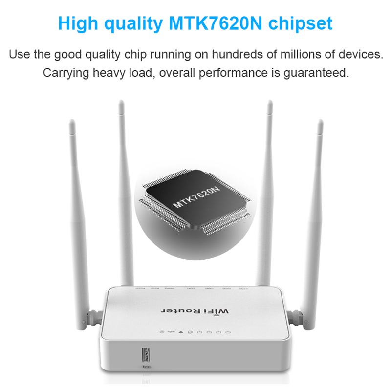 WE1626 Long Range Indoor Wireless Network Router With USB Port And External Antennas MT7620N openVPN 300Mbps WiFi Router image