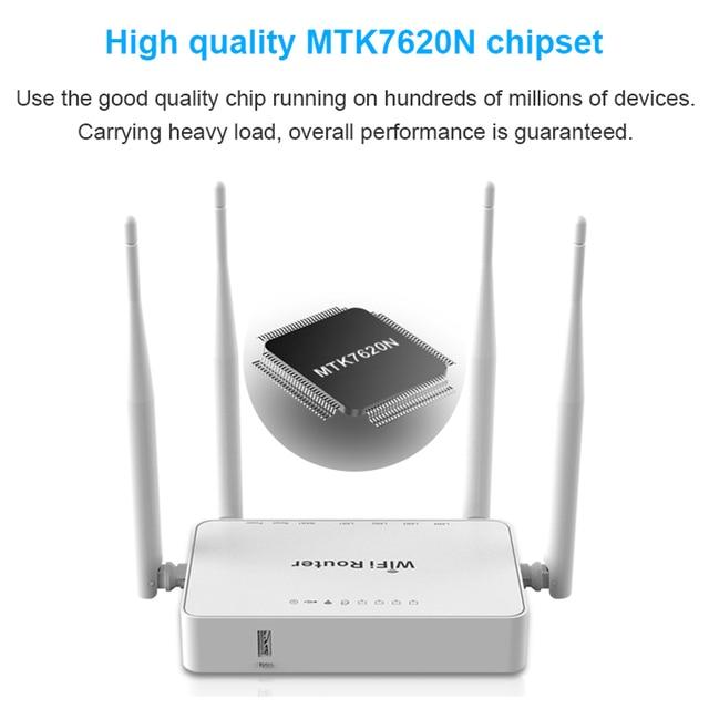 WE1626 routeur réseau sans fil intérieur, MT7620N openVPN, 300 mb/s, avec Port USB et antennes externes, 12V 1a, longue portée