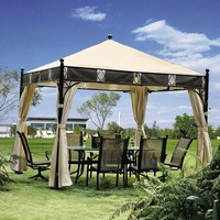 3*3 meter high quality outdoor gazebo tent patio shade pavilion garden canopy rain protection furniture house with sidewalls