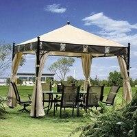 3*3 meter hohe qualität pavillon im freien zelt terrasse schatten pavilion garten baldachin regen schutz möbel haus mit seitenwänden|Pavillons|Heim und Garten -