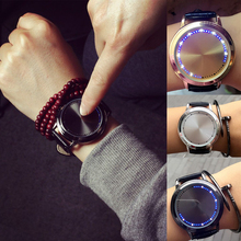 1pc Minimalist leather strap waterproof LED watch men women couple wristwatches unisex smart electronics casual clocks hot H4