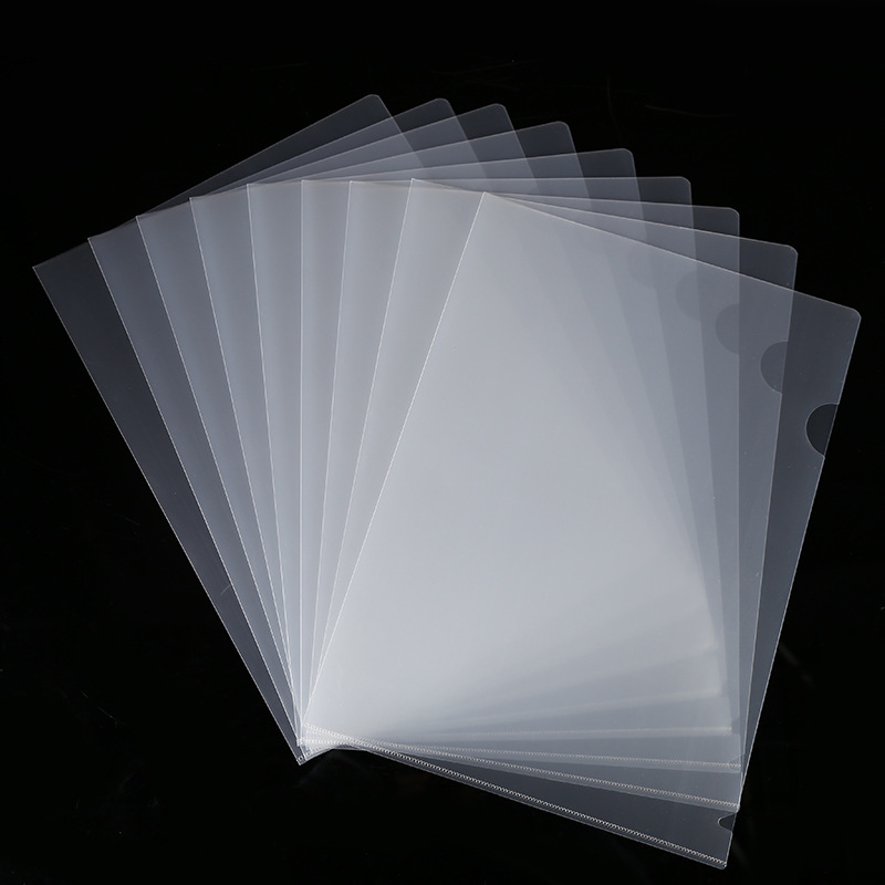 5pcs/lot A4 Size Transparent L Folde Document Pocket Paper Pouch Bill File Pouch Pocket Folder Office Business Use S19023
