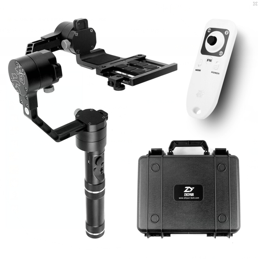 Original Latest Zhiyun Crane Handheld Stabilizer Gimbal With Case Remote Controller for DSLR Canon Cameras Support 1.8KG afi vs 3sd handheld 3 axle brushless handheld steady gimbal stabilizer for canon 5d 6d 7d for sony for gh4 dslr q20185