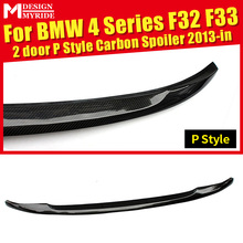 F32 Rear Trunk Spoiler Tail Wing AEP Style Carbon Fiber For F33 2-Door 420i 428i 430i 440i Rear Spoiler Wing car styling 2013-in