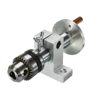 1PC Live Lathe Center Head With Chuck For Mini Lathe Machine Revolving Centre Woodworking Tool DIY Accessories