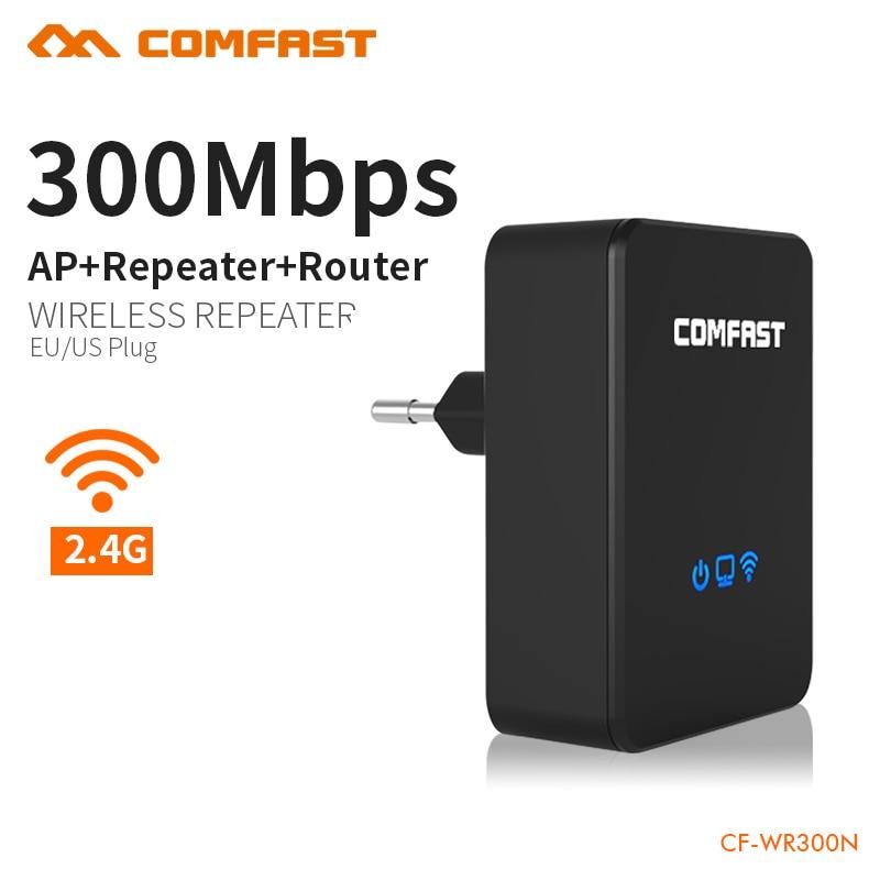 Sans fil-n homeplug wi fi répéteur 300 mbps routeur sans fil routeur signal wifi amplificateur anglais firmware COMFAST CF-WR300N