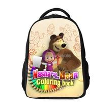 Russia Cartoon Masha and Bear Children School Bags Children Boys Crossbody Bag Kids Shoulder Bags Christmas