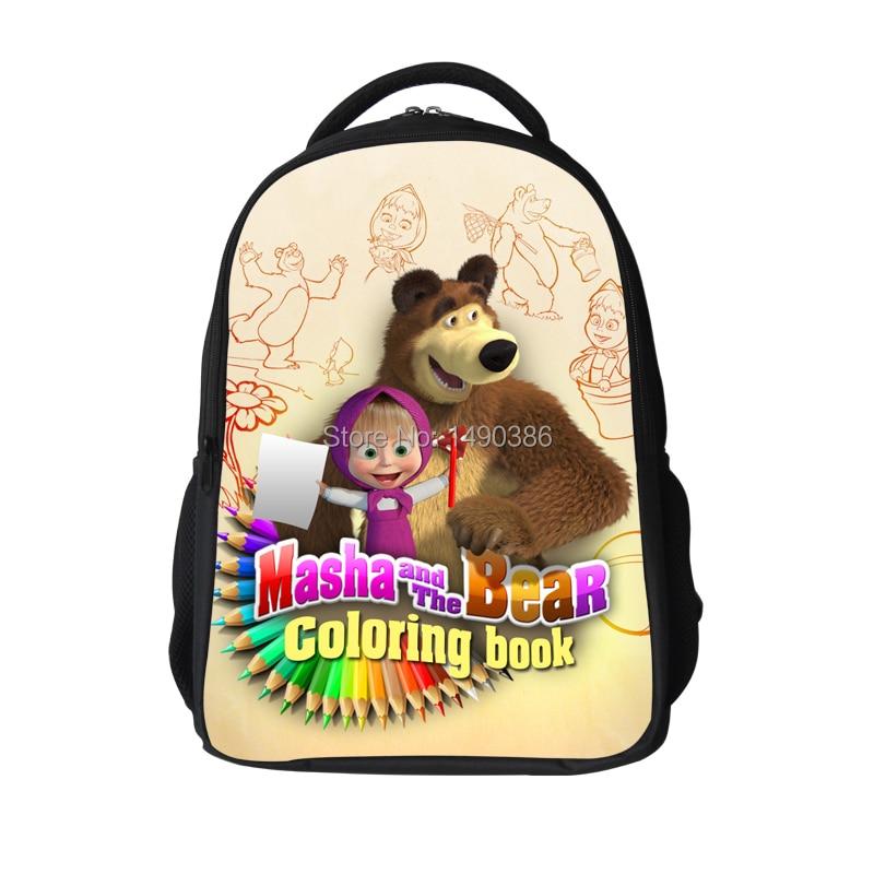 Russia Cartoon Masha and Bear Children School Bags Children Boys Crossbody Bag font b Kids b