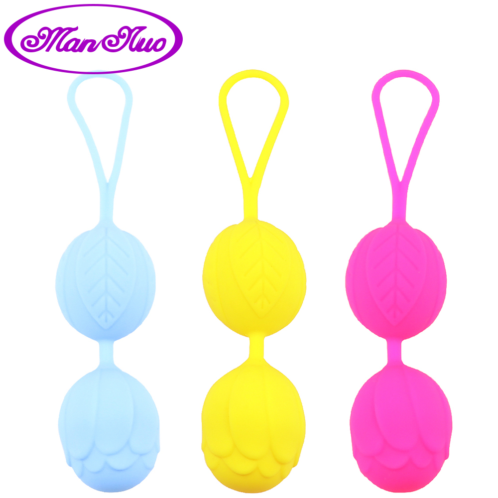 Man Nuo Silicone Kegel Ball Smart Vagina Trainer Exercise Vagina Tightening Love Ben Wa Ball Vibrator Sex Toys For Woman