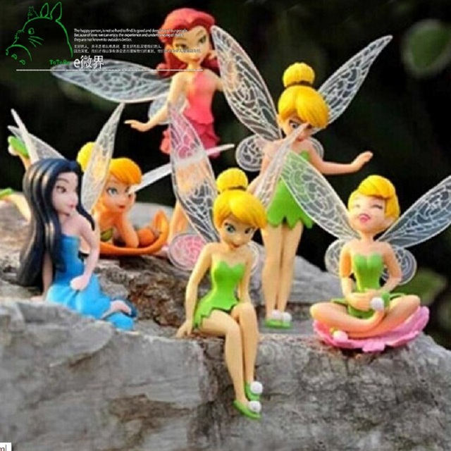 6pcsset miniature fairy flowers ornaments pokemon elf flower cartoon decorations accessories xmas gift for