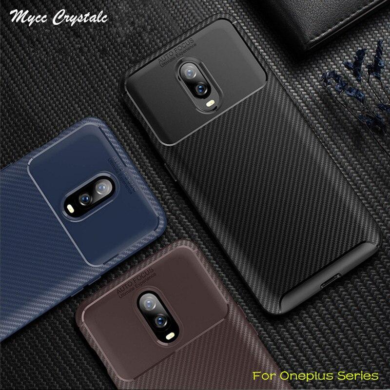 For Oneplus 6T A6013 Case Network Design Soft Carbon Fiber