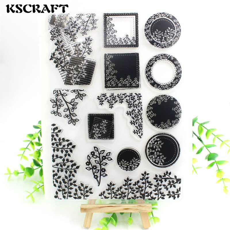 KSCRAFT Leaves Transparent Clear Silicone Stamp/Seal for DIY scrapbooking/photo album Decorative clear stamp sheets animals family transparent clear silicone stamp seal for diy scrapbooking photo album decorative clear stamp sheets