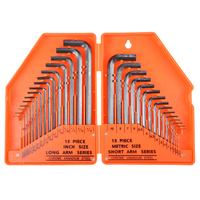 New 30pcs Allen Wrench Hex Key Industrial Grade Metric Inch Flat Head Hex Wrench Set L type Wrench Hand Tool Kit