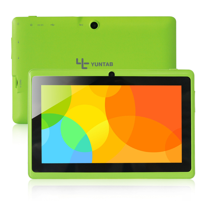 7 inch Android4.4 Tablet Q88 Allwinner A33 Quad Core Capacitive Screen 1024*600 Dual Camera, Supports WIFI 3G External(Green)