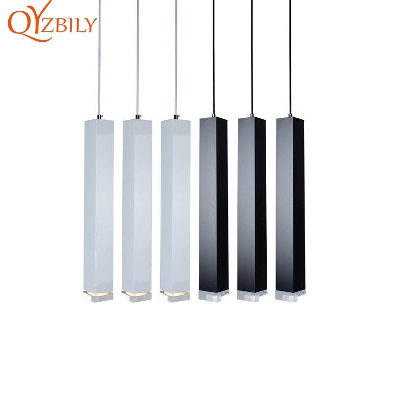 Pendentif LED lumières lampe à suspension moderne en cristal lampe industrielle luminaires nordiques café bar cuisine salle à manger lampes suspendues