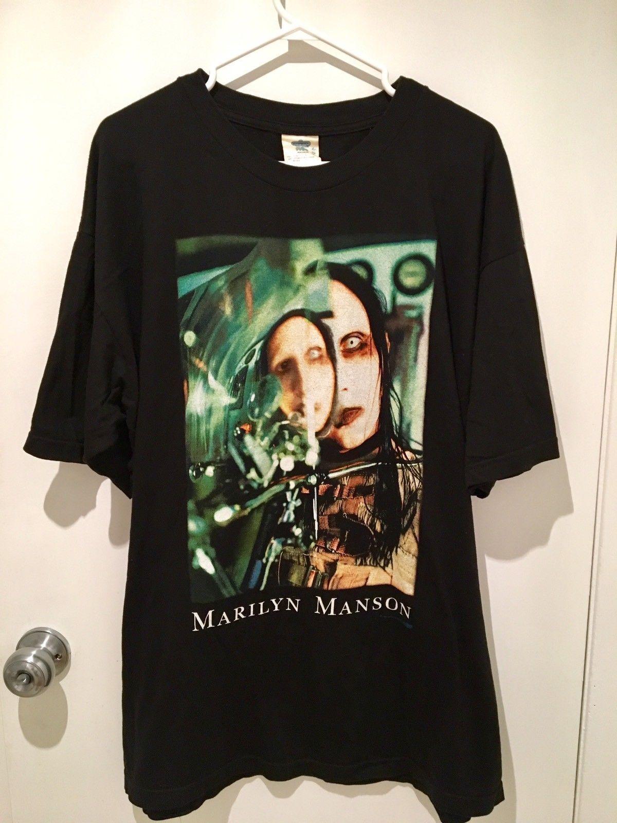 Vintage 1997 Marilyn Manson Beautiful People T Shirt VERY RARE Hot Sale Sleeves Boy Cotton Men T-Shirt Top Tee