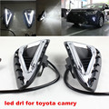 Free Shipping!!2016 NEW Camry LED Daytime Running Light 100%Waterproof fog lamp DRL fit for Toyota Camry 2014-2015 Year
