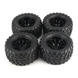 4 шт. 130 мм 10 контурный самосвал фетальный цветок внедорожный обод колеса и шины для 1/10 Monster Truck Racing RC автомобильные аксессуары