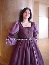 Free Shipping Custom Made Italian renaissance court gown Purple Princess Dress Party Costume