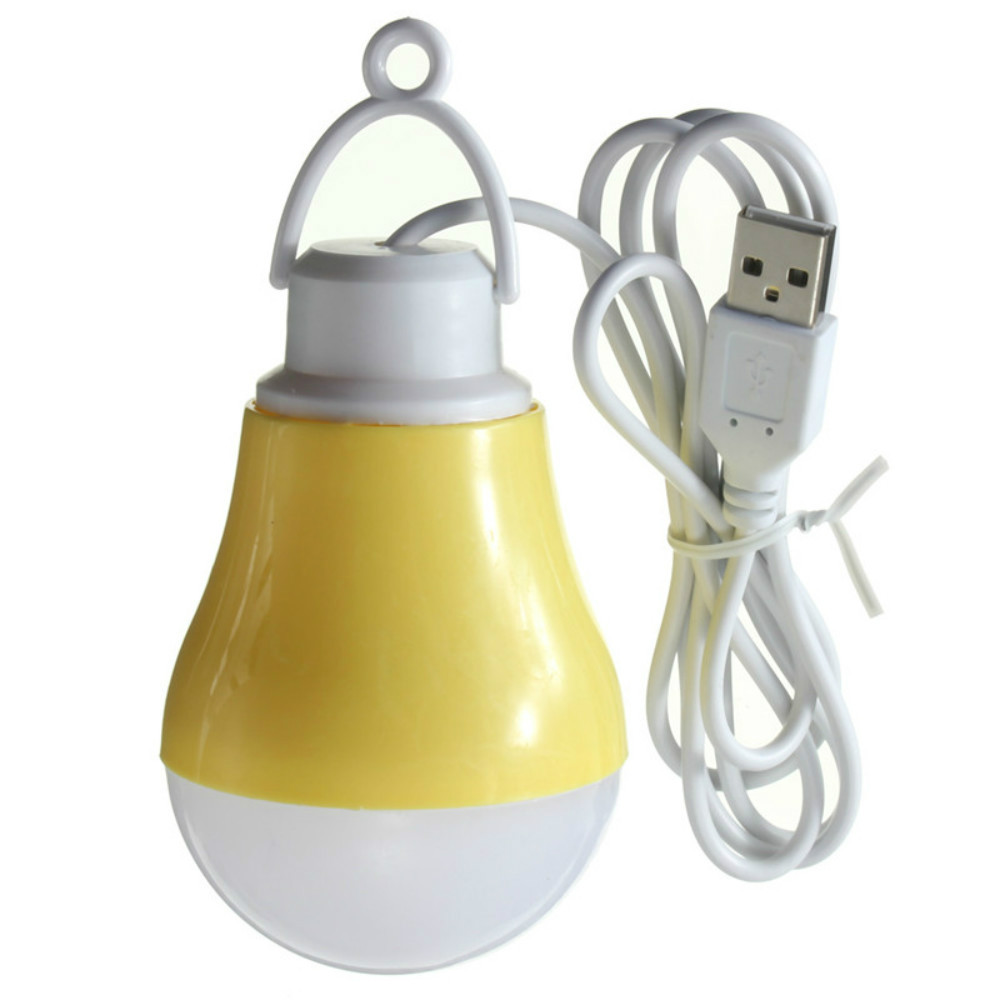 USB LED Bulb Light  PVC Environmental Lamp 5V 7W Portable LED Bulbs USB Lamps For Hiking Camping Travel Outdoor Lighting