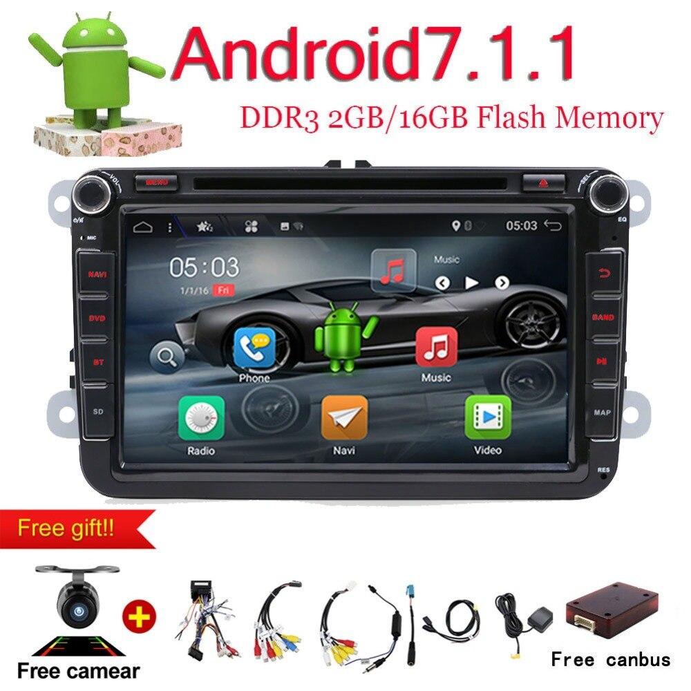 Bosion 8 2 Din Android 7,1 автомобиль радио аудио GPS навигации для Volkswagen VW Passat Polo Гольф 5 6 головное устройство клейкие ленты регистраторы плеер