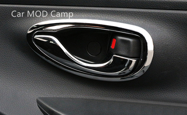 For Toyota Vios Yaris Sedan 2014 2017 ABS Chrome Interior Door ...