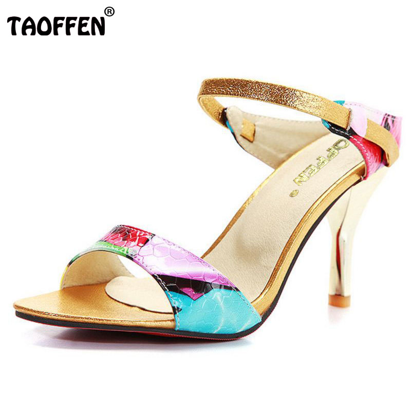 TAOFFEN Free shipping quality high heel sandals fashion women dress sexy shoes platform pumps P13799 Hot sale EUR size 31-44 free shipping candy color women garden shoes breathable women beach shoes hsa21