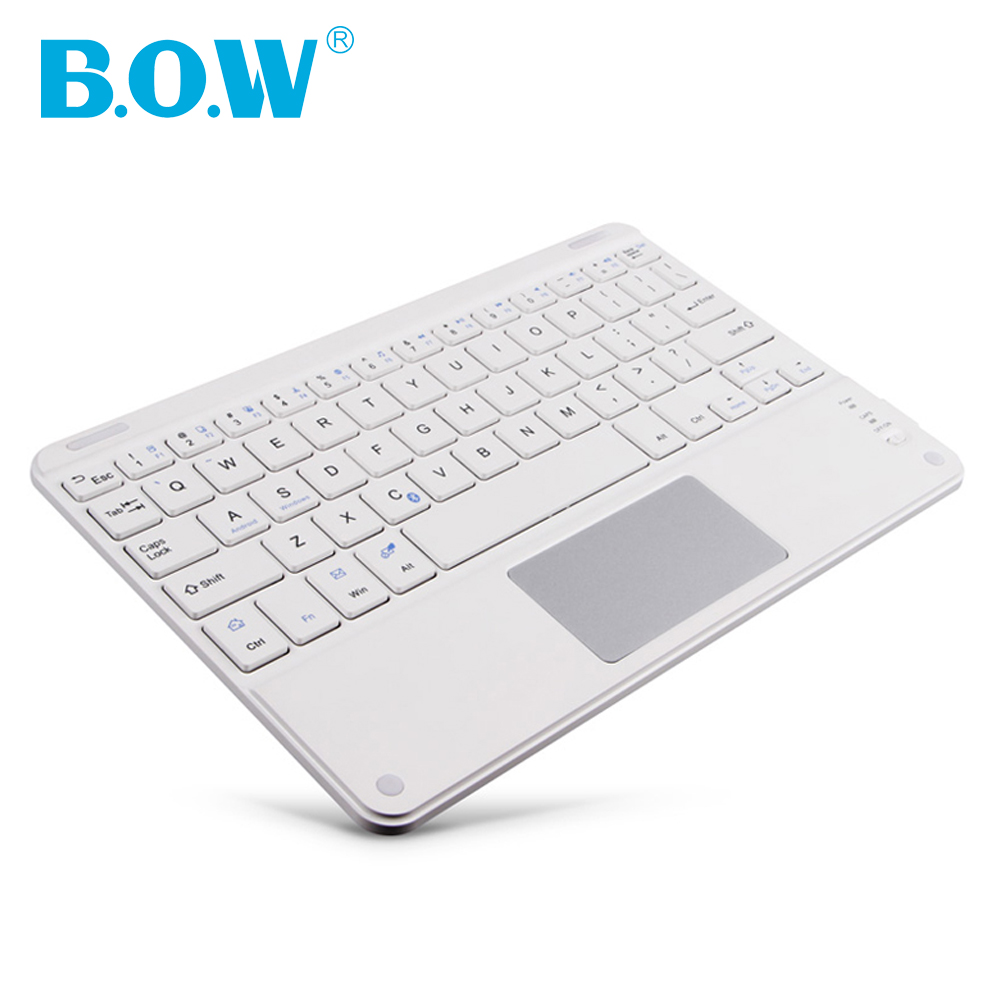 B.O.W Slim Touchpad Universal keyboard Wireless Bluetooth Keyboard for Windows/IOS/Android Laptop/Tablet/Smartphone