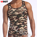 2017 Summer style Hombres Tank Tops Tops Casuales Para Hombre Del Ejército de Camuflaje Chaleco camisetas de marca para Hombre Chaleco de Camuflaje (N-355)
