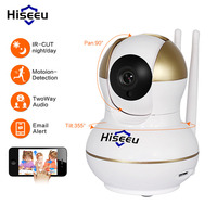 Hiseeu HD IP Camera Wireless Wifi Video Surveillance Network Home Security Camera Support 433MHz Wireless Detector