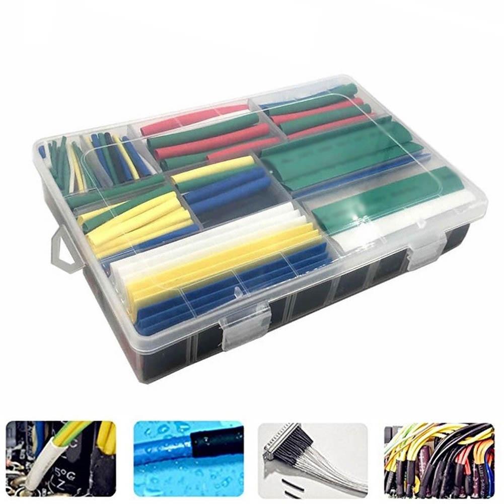 385pcs/Set Heat Shrink Tube 2:1 Set 9 Sizes 7 Colors Sleeve Wrap Polyolefin Tubes Shrink Wrapped ALI88