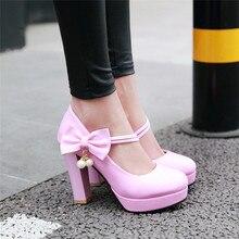 YMECHIC/Модные женские вечерние свадебные туфли лодочки на высоком каблуке с бантом бабочкой, фиолетовые, белые, черные офисные модельные туфли мэри джейн для лета