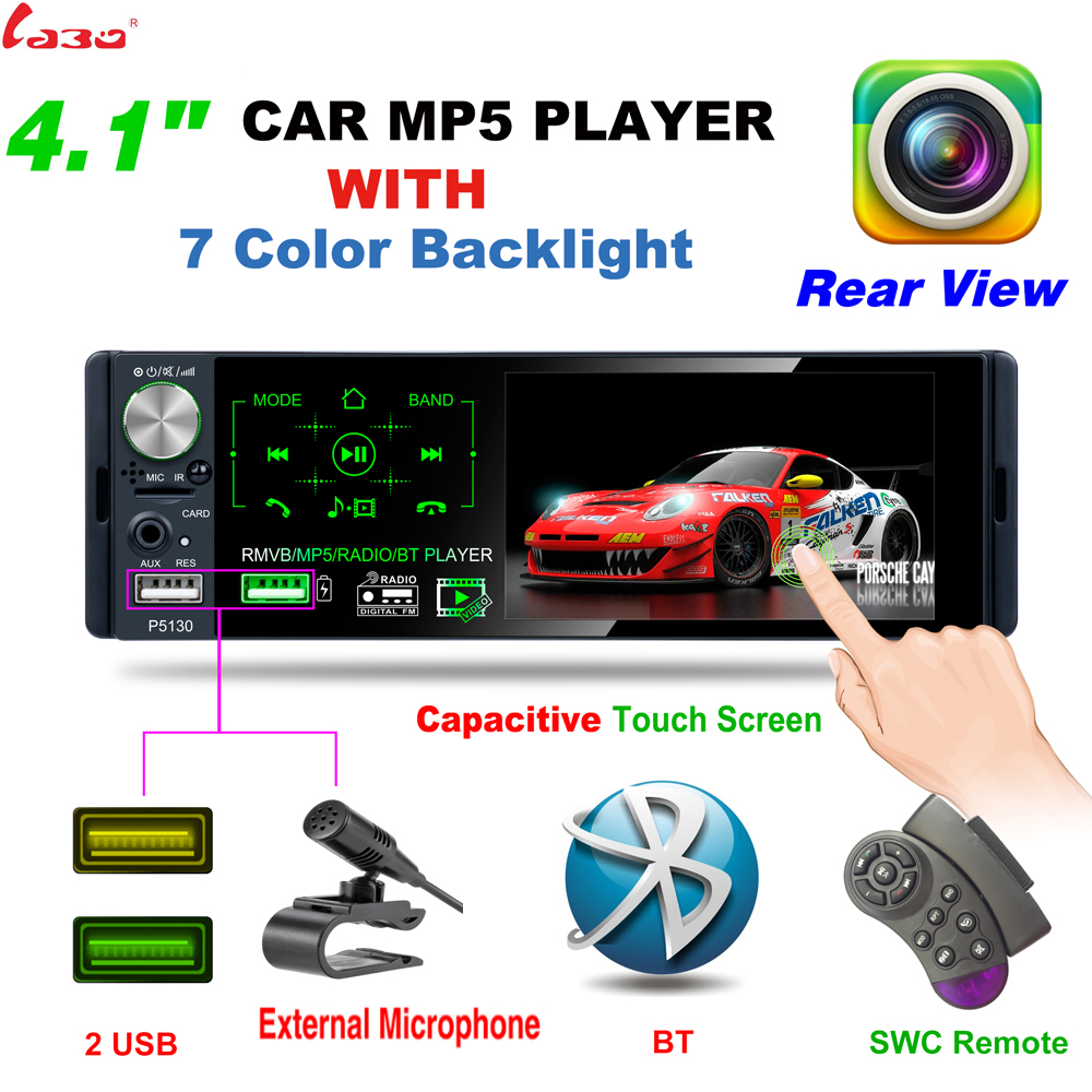 Mirror Link Backup Camera SD//TF AUX -in Steering Wheel Control//Remote Control Car Stereo for Toyota Corolla Double Din Car Radio Audio with Bluetooth 7 Touch Screen FM Radio Car MP5 Player USB