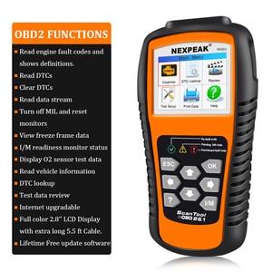 Image 2 - 2020 nuovo strumento diagnostico automatico ODB2 dellanalizzatore diagnostico completo ODB 2 dellanalizzatore dellautomobile OBD2 Nexpeak NX501 migliore del lancio CR5001